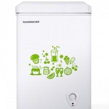 容聲(Ronshen) 100升家用冷藏冷凍小型冰柜