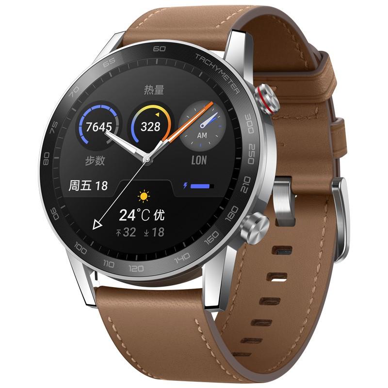 华为荣耀手表2 42mm 亚麻棕 智能运动户外手表 【全新包邮】