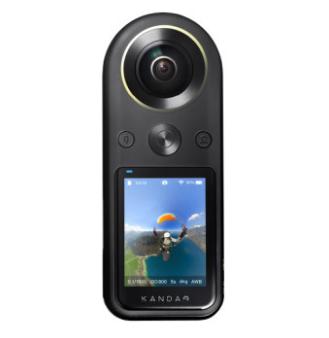 QooCam看到8K 360度全景运动相机骑行VR高清户外防抖