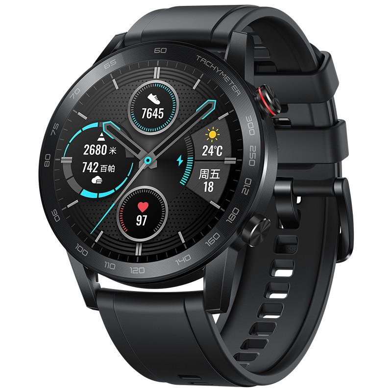 华为荣耀手表2 42mm 碳石黑 智能运动户外手表 【全新包邮】
