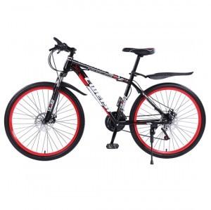 創維斯 山地自行車21速彩圈26寸自行車雙碟剎變速減震男女成人山地車