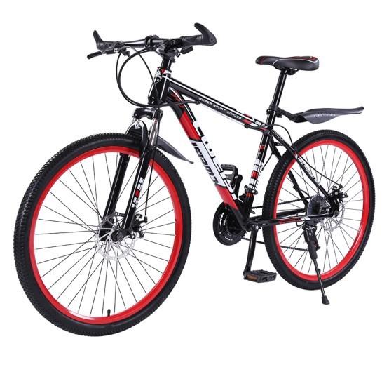 創維斯 山地自行車21速彩圈26寸自行車雙碟剎變速減...