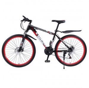 创维斯 山地自行车21速彩圈26寸自行车双碟刹变速减震男女成人山地车