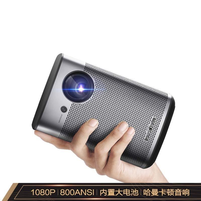 極米Play X 自帶電池1080P 家用便攜手機投影