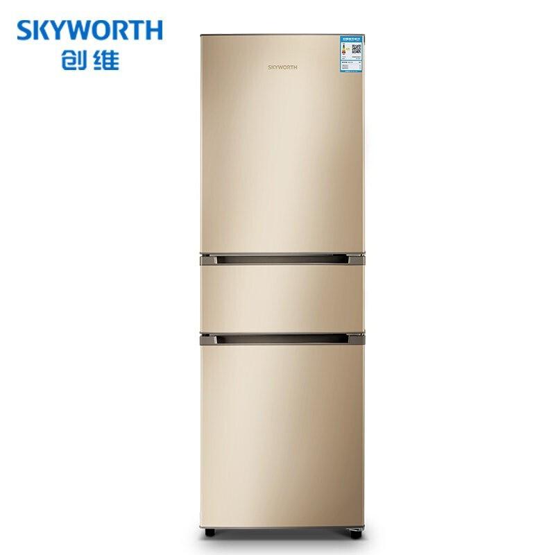 创维223L 三门电冰箱风冷无霜去味净化中门变温室 租满即送
