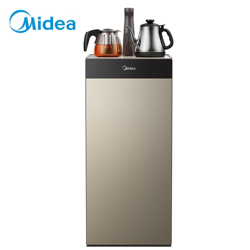 美的 飲水機茶香茶吧機家用下置式桶裝水 多功能智能自主控溫 立式溫熱型