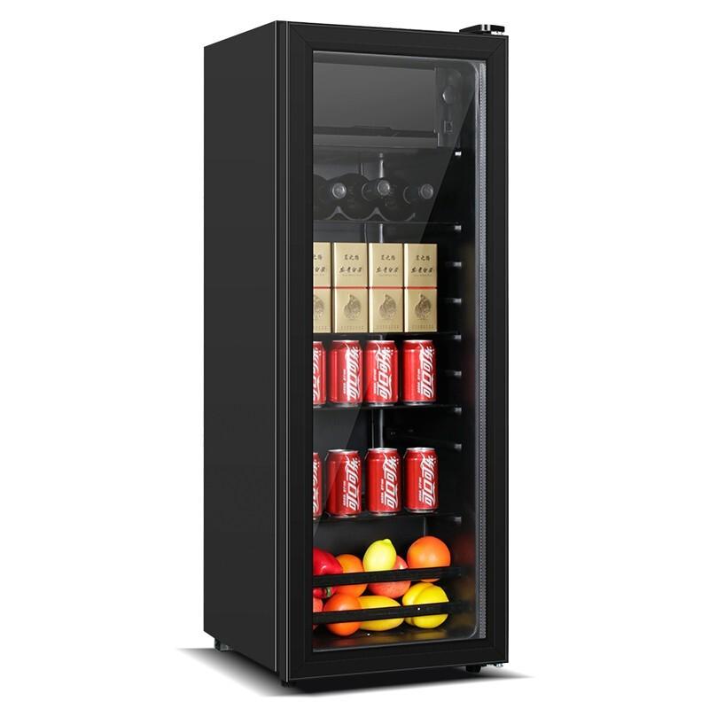 美菱 家用冷柜精致單門小型歐式酒柜冷藏展示柜茶葉水果保鮮冰吧