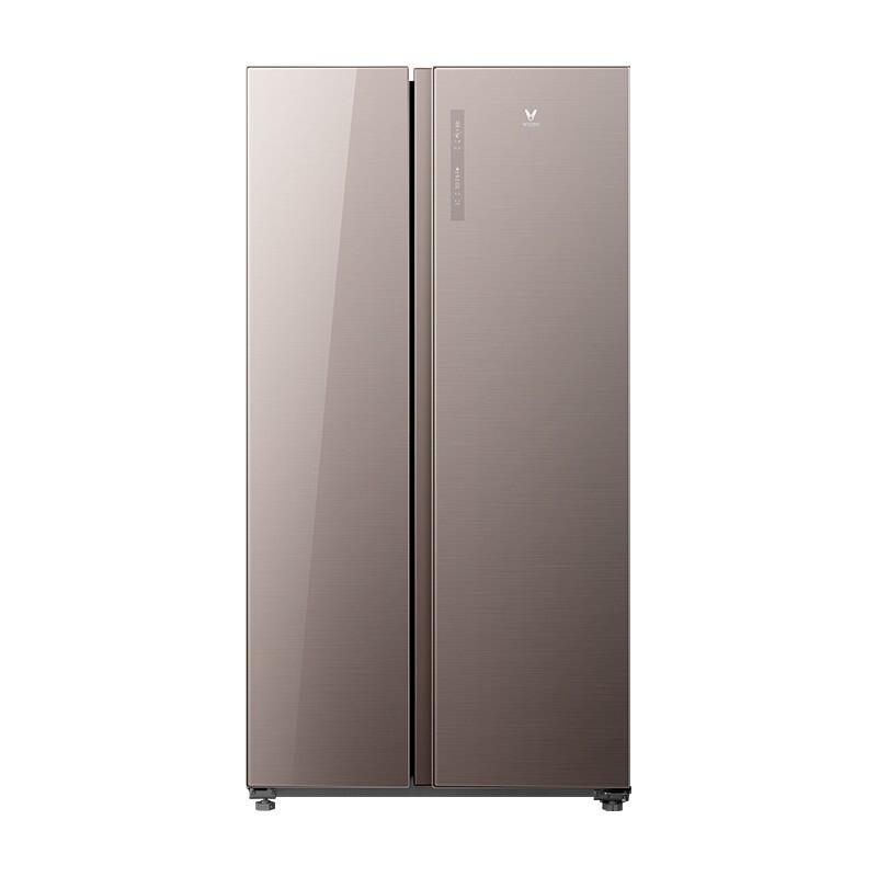 云米 552L变频风冷无霜一级能效玻璃面板对开门双门电冰箱