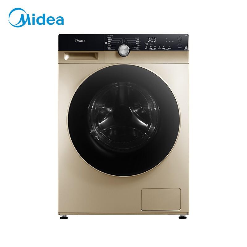 美的 滚筒洗衣机全自动10公斤变频东芝DD直驱除菌蒸...