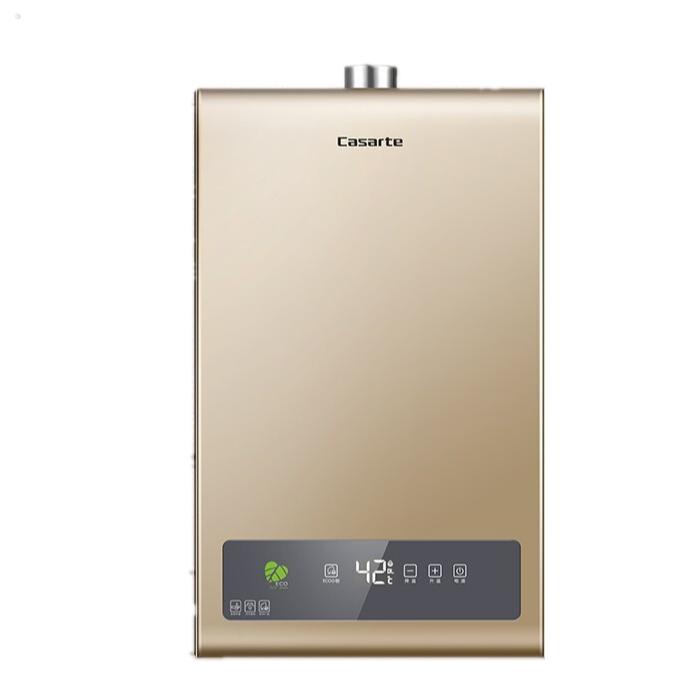 卡薩帝 16升燃氣熱水器天然氣恒溫ECO節能智能一體式炫金彩板天籟