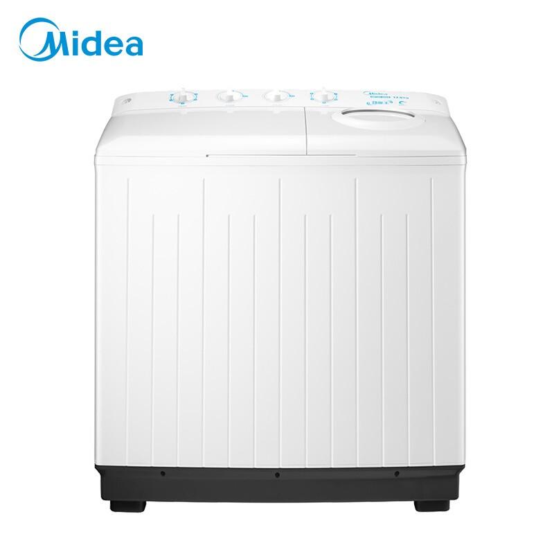 美的 洗衣机半自动12公斤大容量双桶双缸强力洗涤