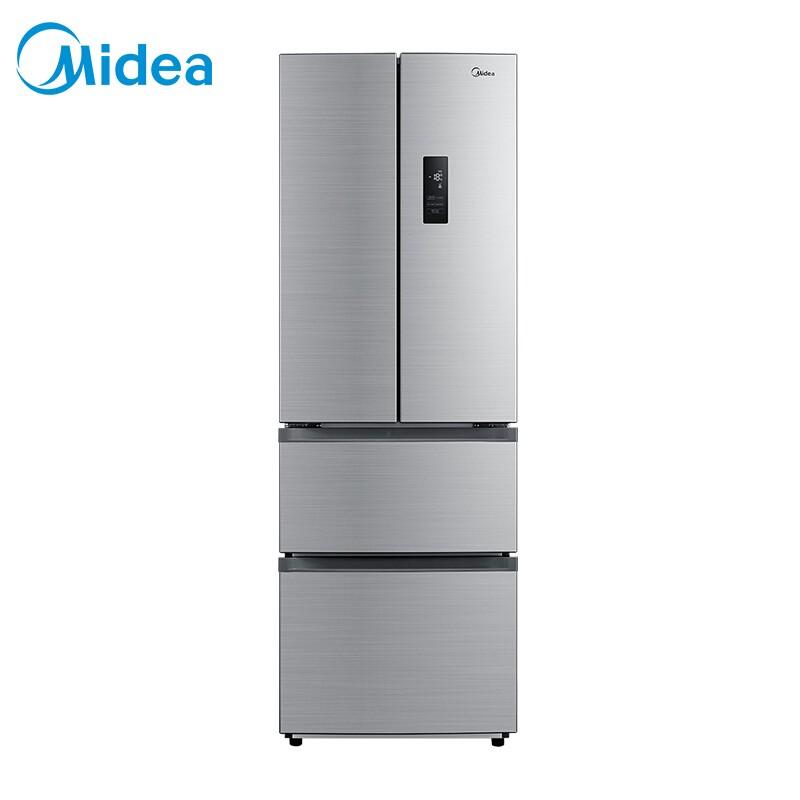 美的 318升多门冰箱变频无霜分区储存不占地APP控制智能电冰箱