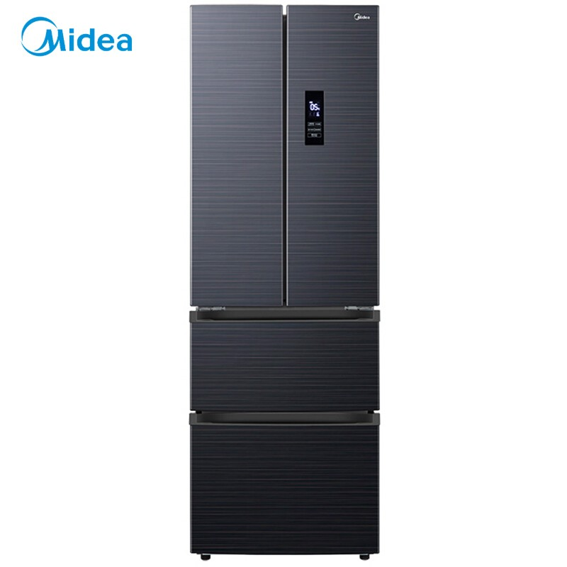 美的 果润维C冰箱323升多门家用四开门变频一级能效智能电冰箱