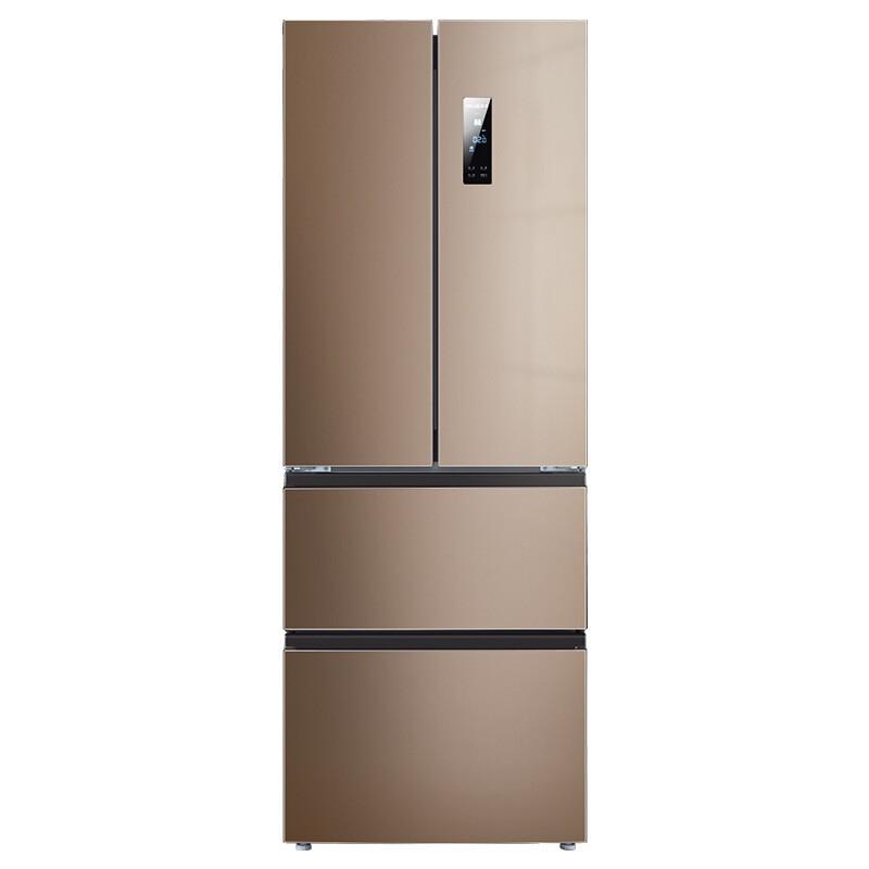 美菱 349升多门法式电冰箱双变频节能静音35分贝风冷无霜变温保鲜室