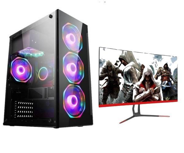 全新机箱全新显示器办公游戏电脑【可买断】