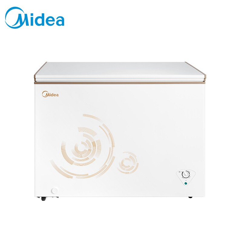 美的 301升商用冰柜臥式冰箱冷藏冷凍轉換柜大冷凍變溫冷柜