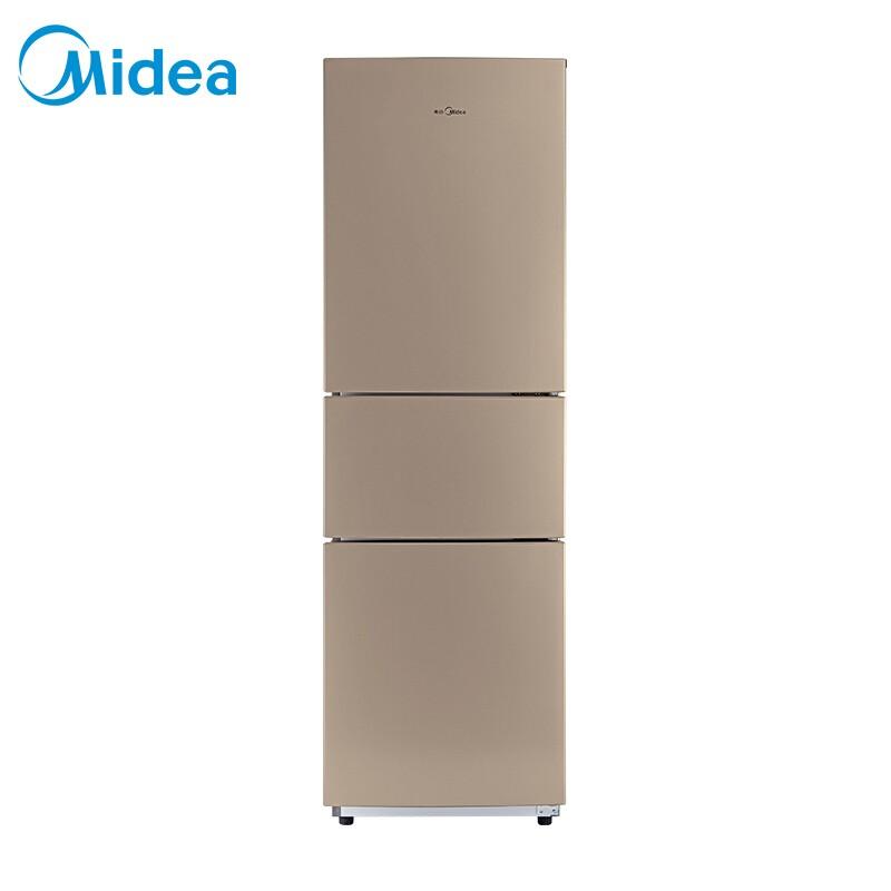 美的(Midea) 213升 节能静音家用三门小冰箱阳光米
