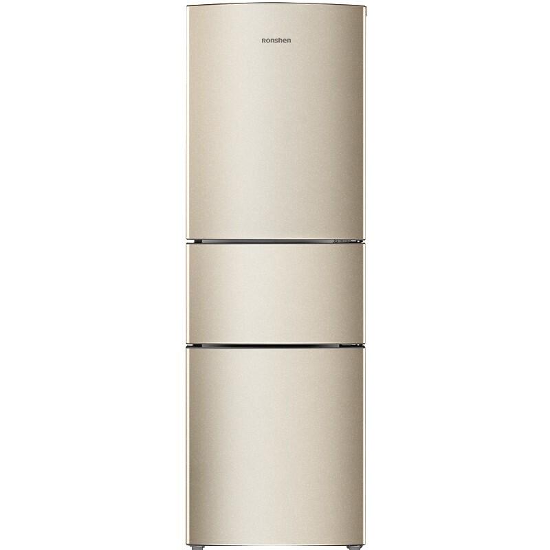 容声 217升小型三门冰箱中门软冷冻静音节能家用租房电冰箱