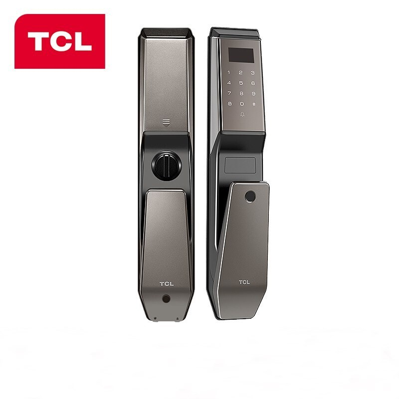 TCL 指紋鎖智能鎖防盜門智能門鎖密碼鎖家用防盜門鎖推拉式全自動