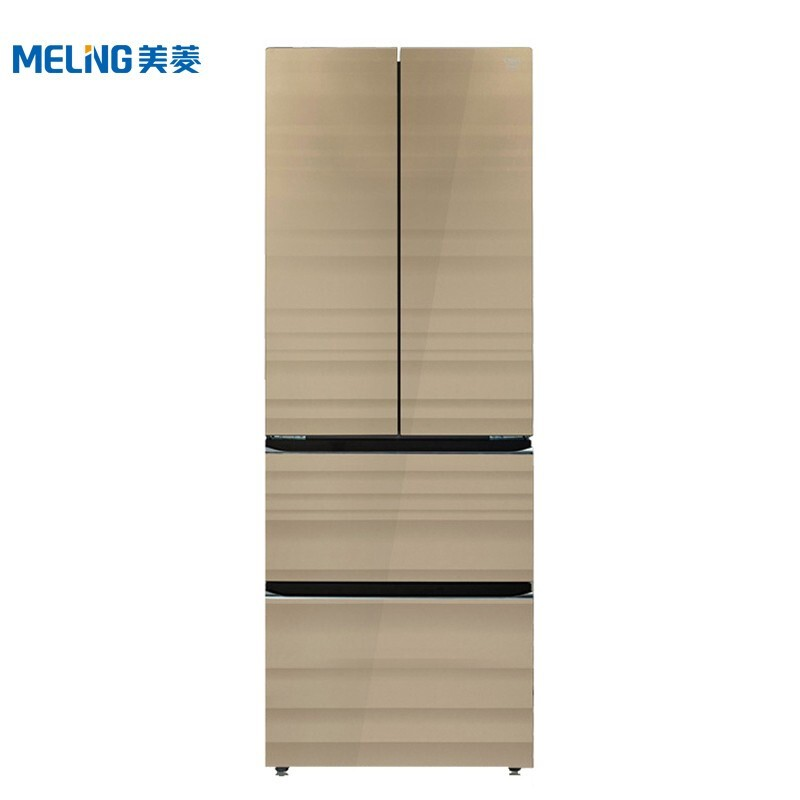 美菱 368升M鲜生法式多门冰箱水分子保鲜技术米雅金棕纤薄冰箱