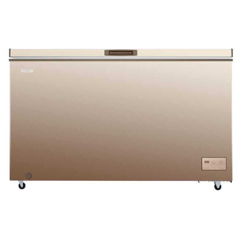 美菱 426升一級能效商用單溫電控大容量冰柜冷藏冷凍轉換臥式大冷凍柜