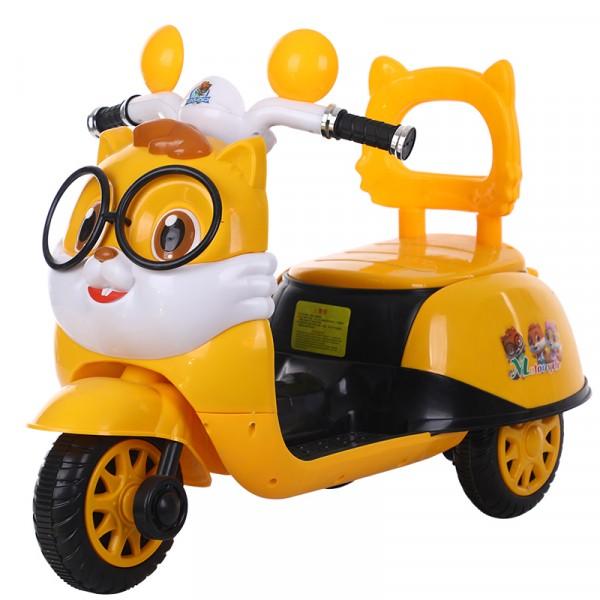 卡通摩托車帶眼鏡可愛電動摩托車