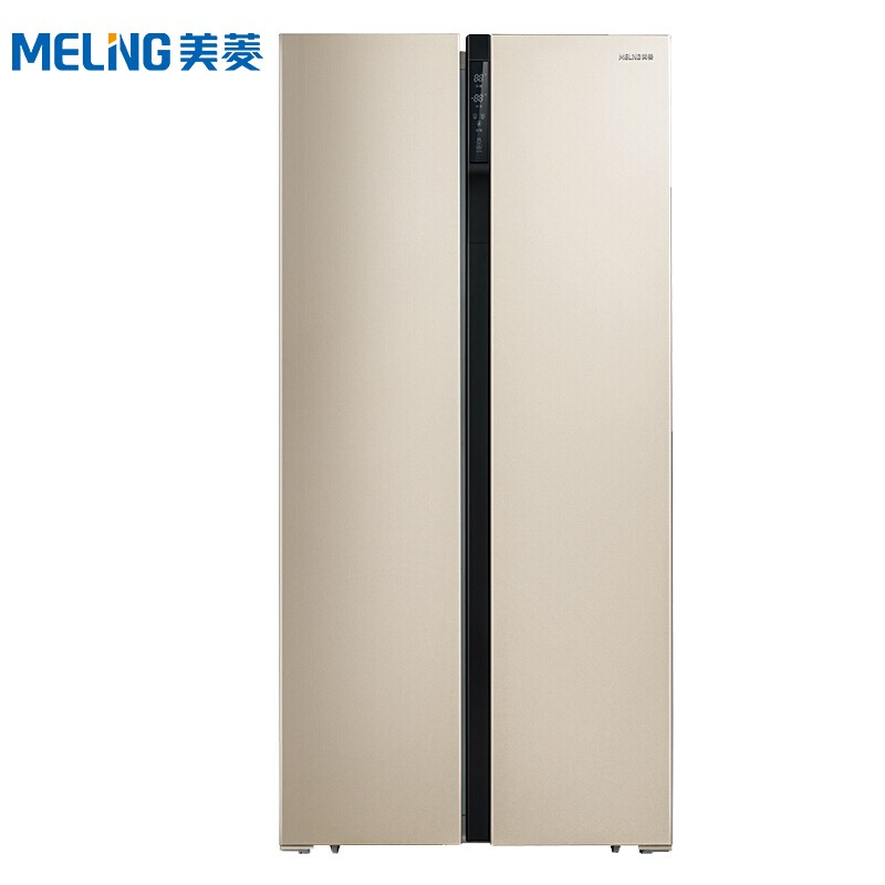 美菱 456升对开门双开门冰箱风冷无霜节能静音智能显示双循环玫瑰金