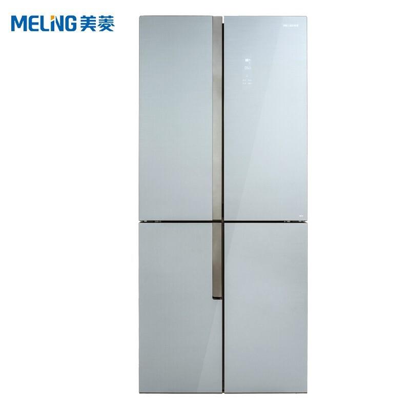 美菱 502升十字对开门冰箱一级能效风冷无霜0.1度双变频纤薄凯撒灰