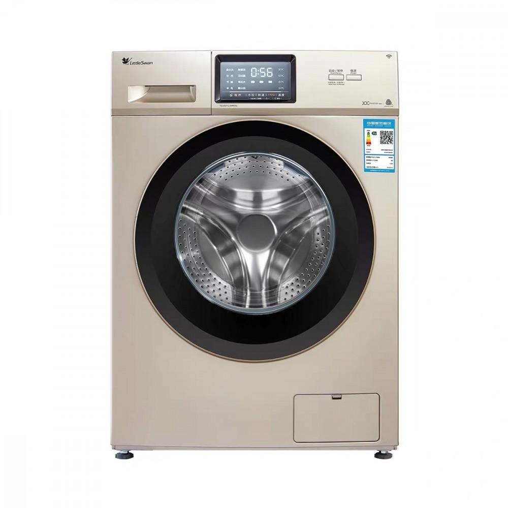 小天鹅8公斤kg滚筒洗衣机全自动家用智能变频杀菌烘...