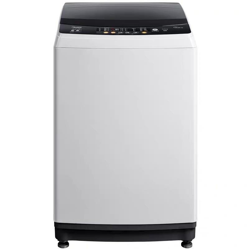美的8公斤波轮小型洗衣机 全自动家用大容量 洗脱一...