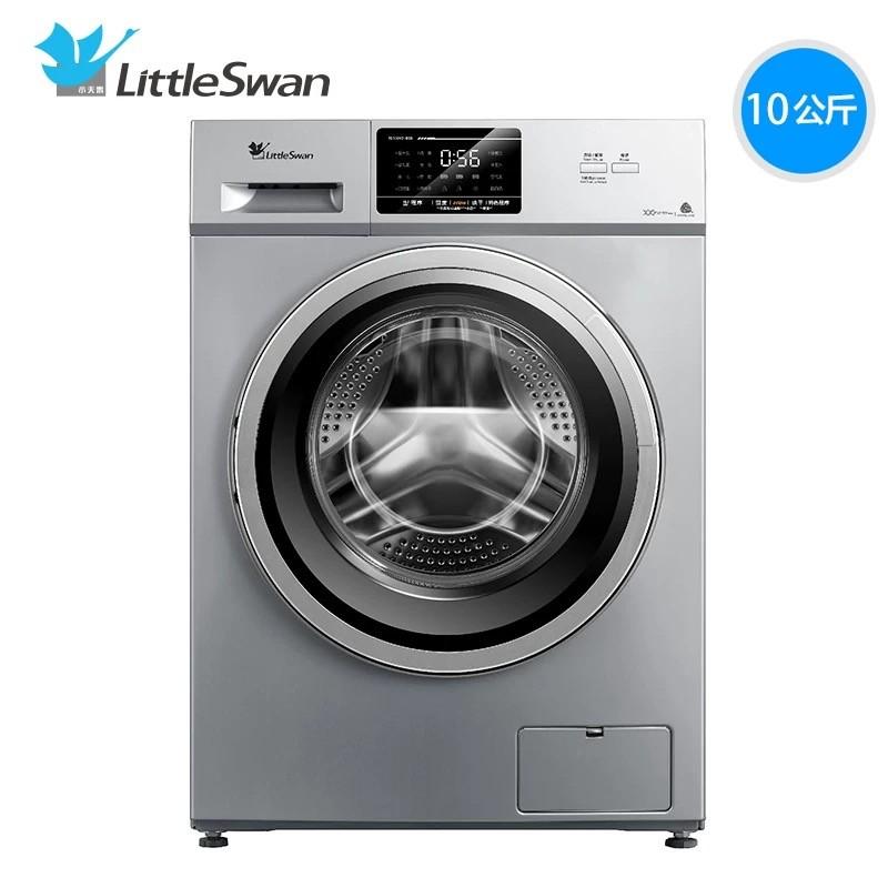 小天鹅滚筒洗衣机全自动家用杀菌洗烘干一体10kg静音TD100V21D