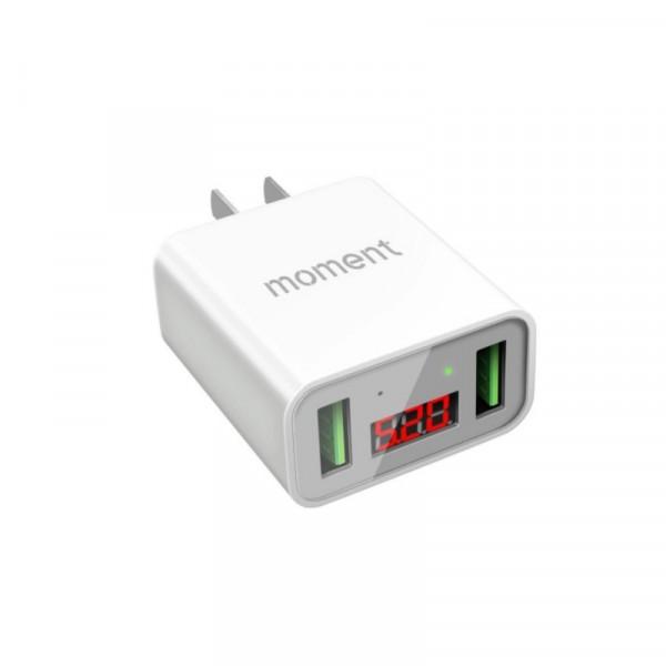 2.4A智能芯片数显充电器 双USB接口支持ipod/iphone/i