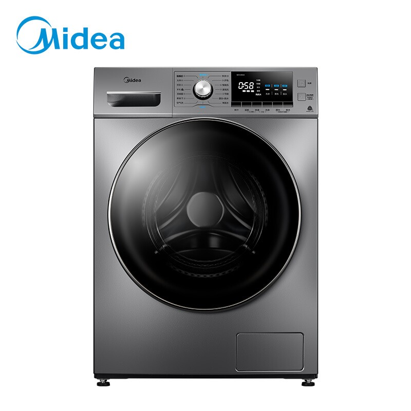 美的 滚筒洗衣机全自动10公斤变频除螨洗烘一体双蒸...