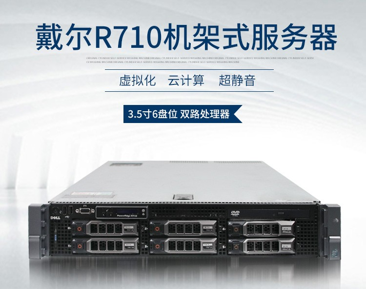 戴尔R710 E5504*1/16G/300GSAS*1/6i卡服务器