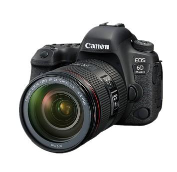 佳能6D2全畫幅專業單反相機套機(24-105鏡頭)