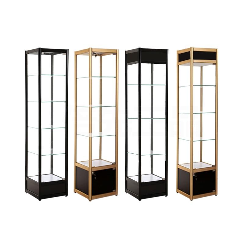 家用展示柜玻璃玩具模型柜手办高达饰品四方柜陈列柜