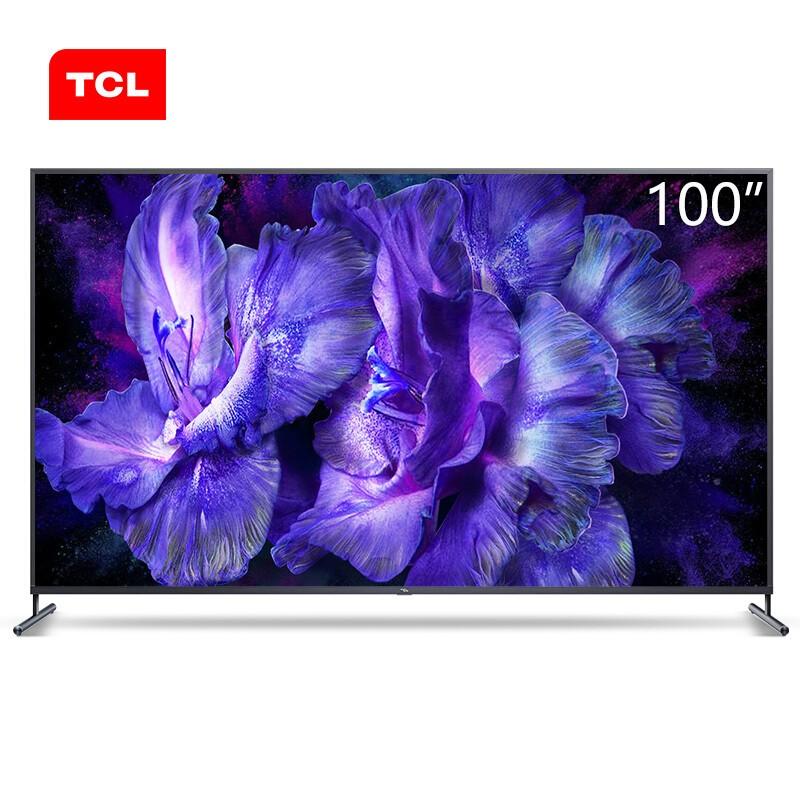 TCL 100英寸液晶電視機4k超高清全面屏人工智能家庭巨幕
