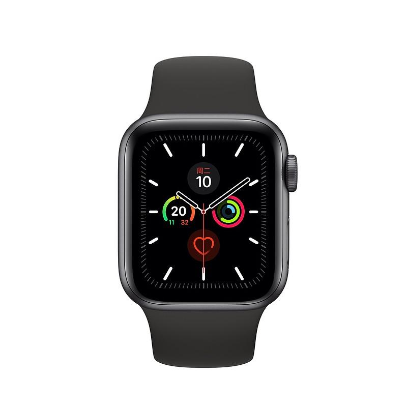 苹果手表5代44mm国行GPS版铝合金运动版iwatch 5