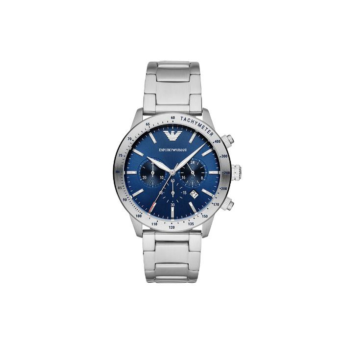 正品新款阿瑪尼手表 三眼多功能石英男表