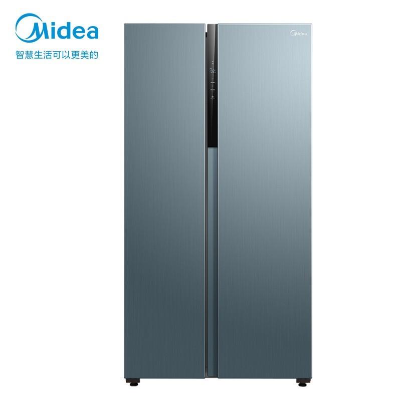 美的 果润精储系列596升对开门家用电冰箱超薄全域温湿精控智