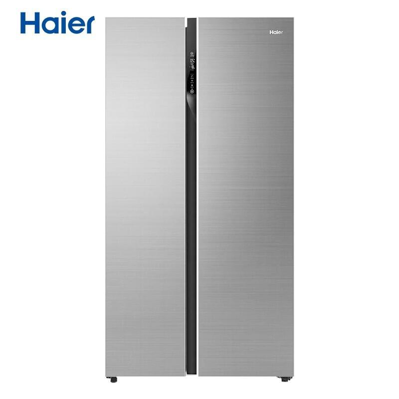 海尔 601升双变频风冷无霜对开门冰箱干湿分储彩晶玻璃面板
