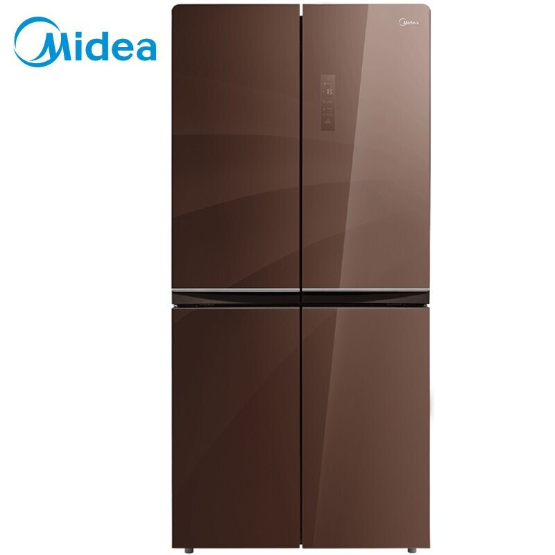 美的 476升十字对开门冰箱风冷无霜一级能效节能省电多维智能