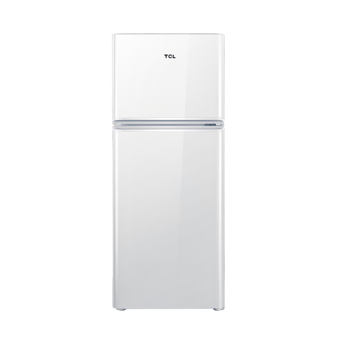 TCL 120升 小型便捷双门电冰箱