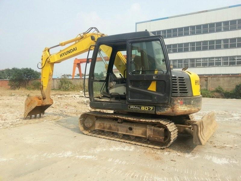 重庆市现代80 8T挖掘机出租